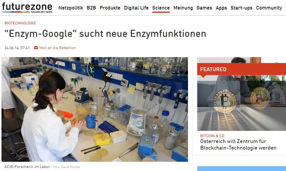 """""""Enzyme-Google"""" is looking for new enzyme functions – futurezone"""
