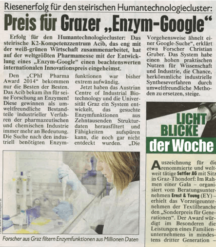 Kronen Zeitung Enzyme Discovery