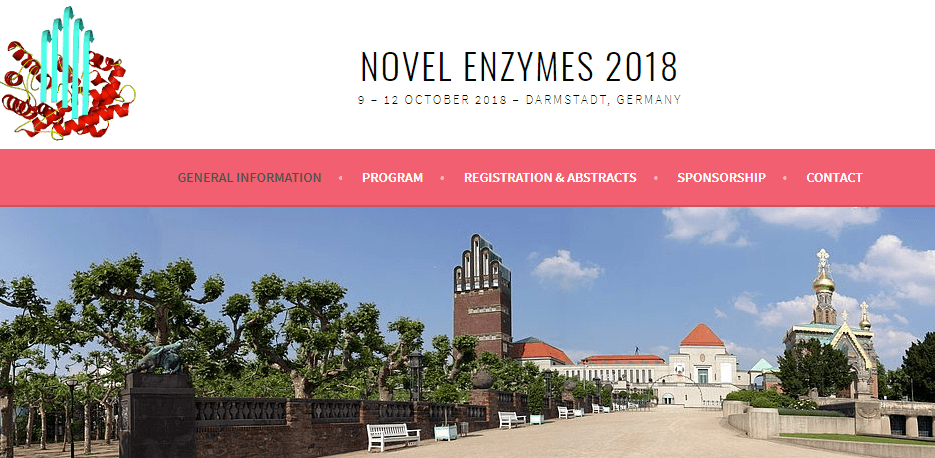 "Meet us at ""Novel Enzymes 2018"" in Darmstadt!"