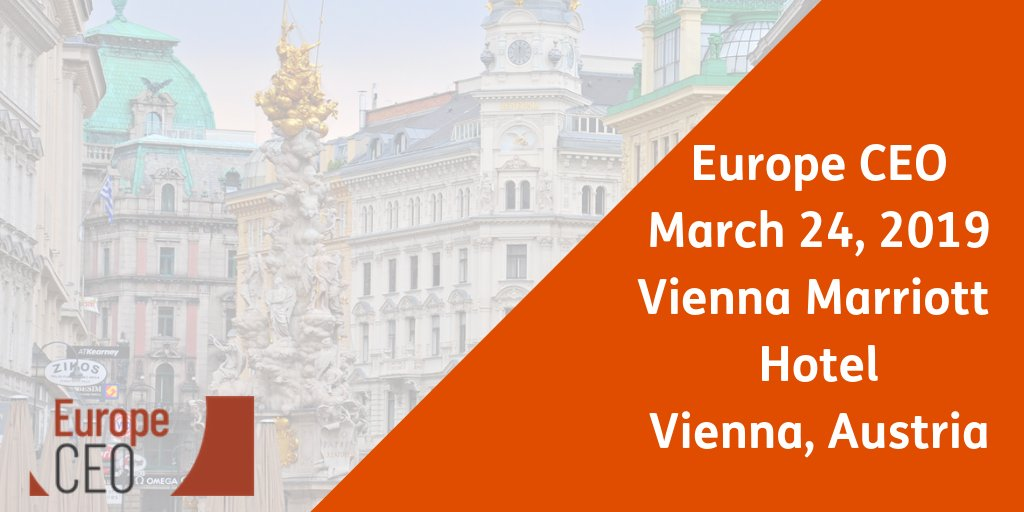 Meet us at the EuropeCEO 2019 in Vienna!